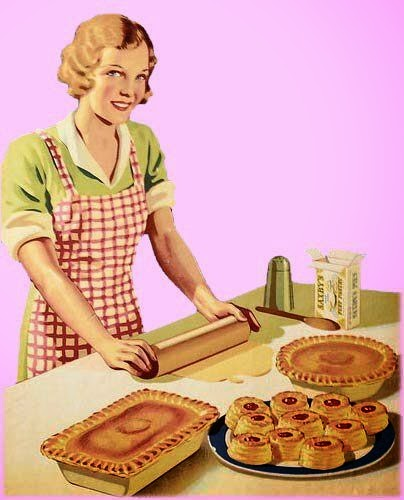 Retro Woman In Kitchen: Apron History: Apple Picking