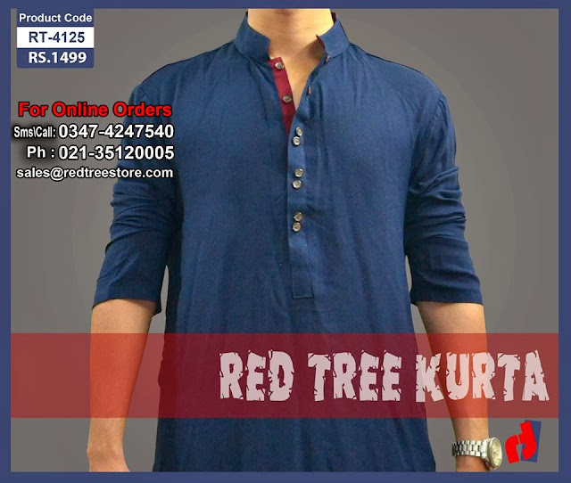New Kurta Collection 2013-14 For Men By Red Tree