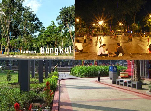 Tempat Wisata Taman Bungkul Surabaya