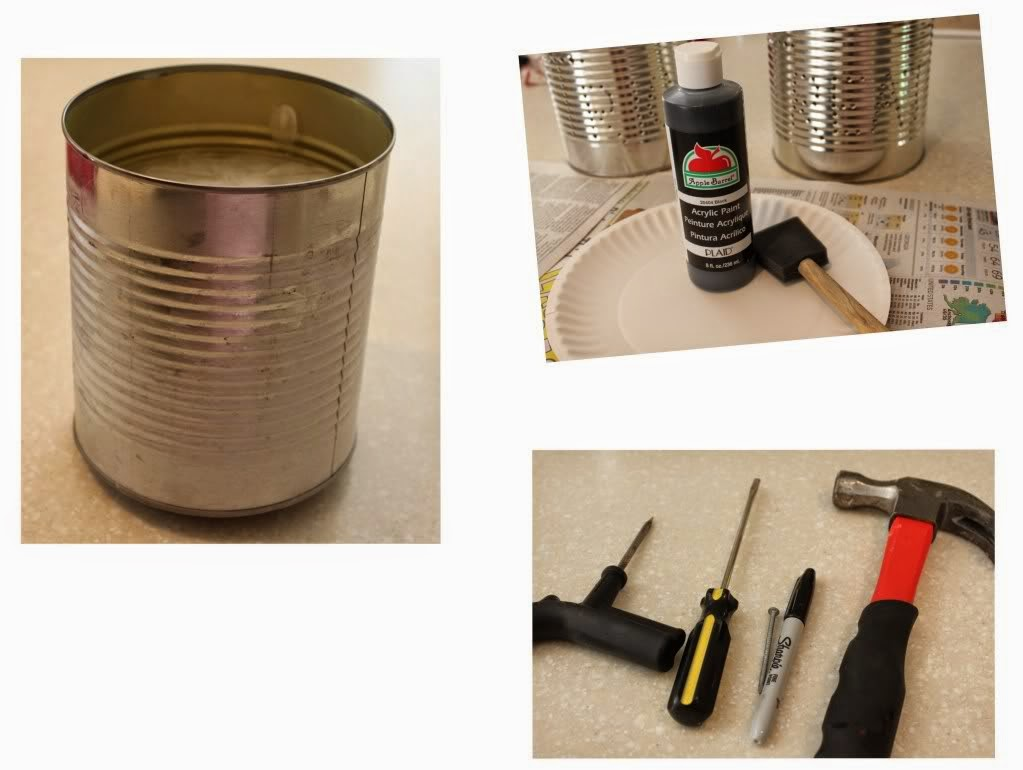 crear portavelas con latas