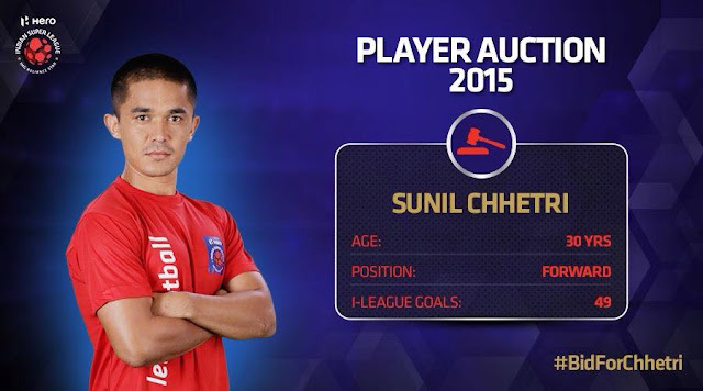 Sunil Chhetri expected to trigger bidding war in ISL Player Auction