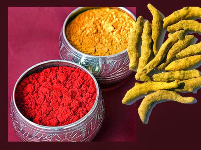 Turmeric and Kumkum