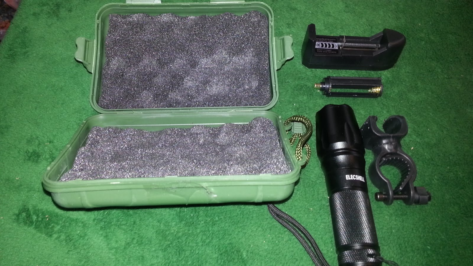 Ledflashlight Led Tactical Flashlight Elecshell Rechargeable 1200lm Single Cell It Came In A Great Case With Battery Charger And Lithium Also Has Aaa Adapter For 3 Batteries Seems Brighter Than My