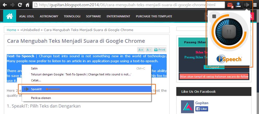 Cara Mengubah Teks Menjadi Suara di Google Chrome 2