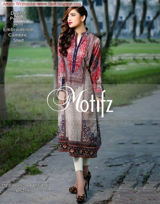 Motifz Winter Dress Collection 2014