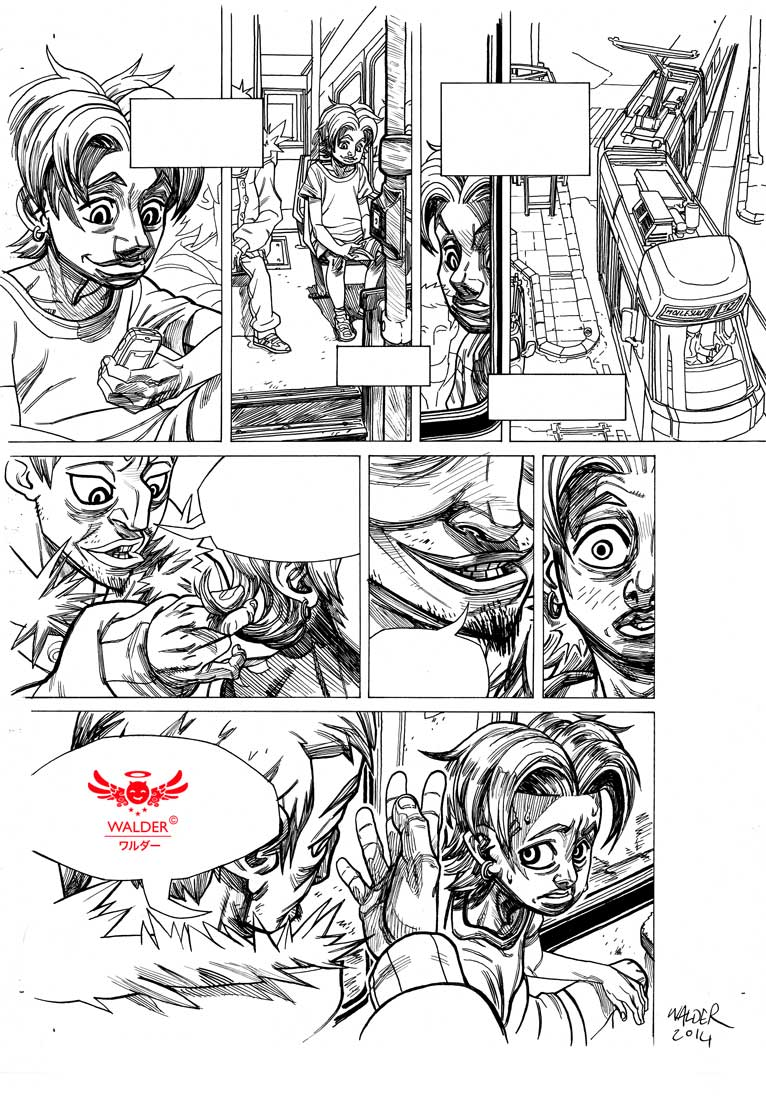 manga page for a french publisher