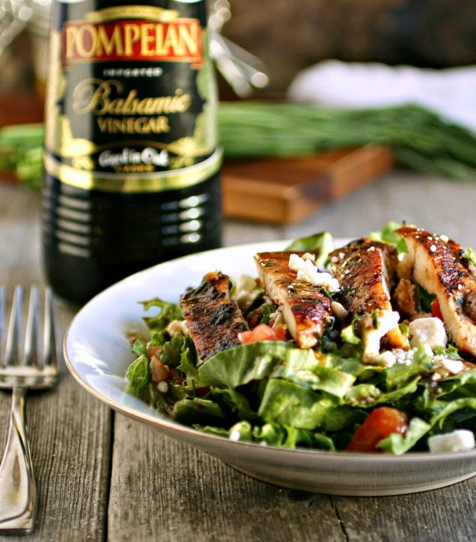 Grilled Chicken Salad with Creamy Greek Style Vinaigrette