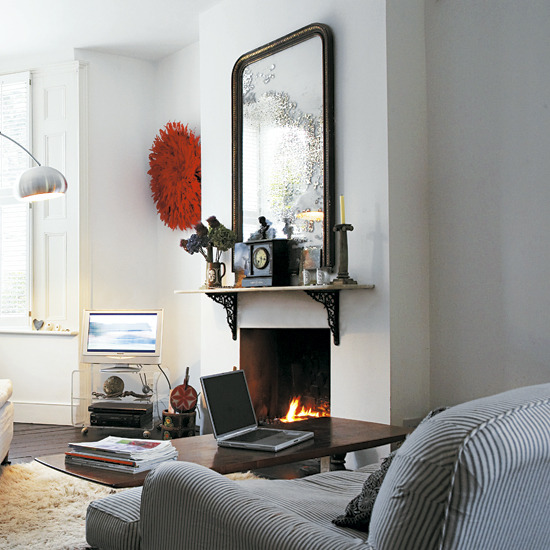 New home interior design take a look inside this eclectic for Edwardian living room ideas