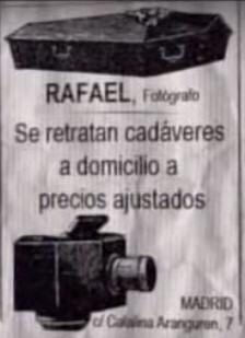 FOTOGRAFÍAS POST MORTEM