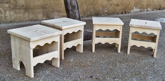 Taburetes de madera
