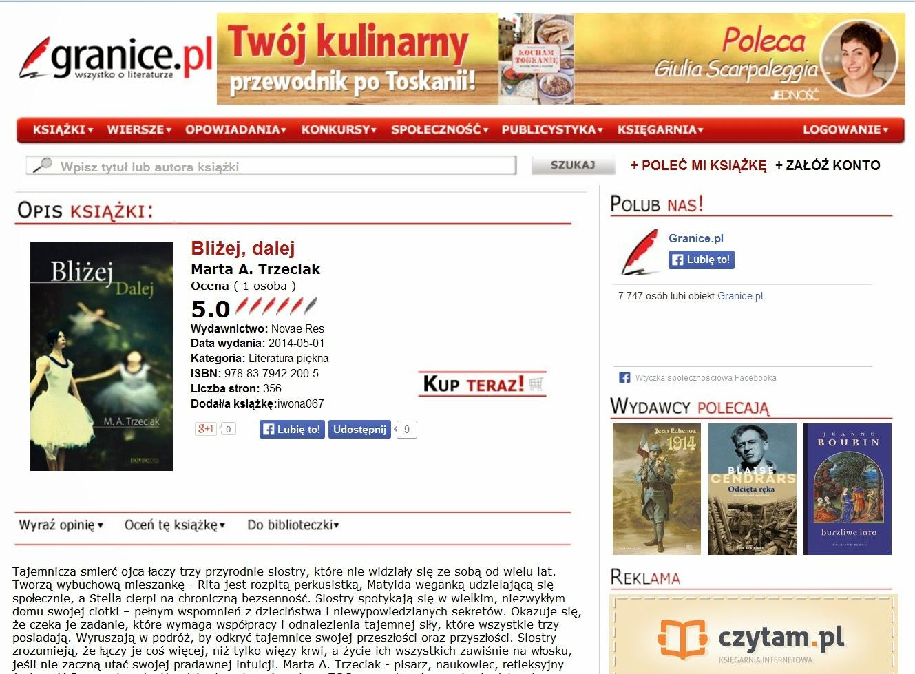 http://www.granice.pl/ksiazka,blizej--dalej,1336043#