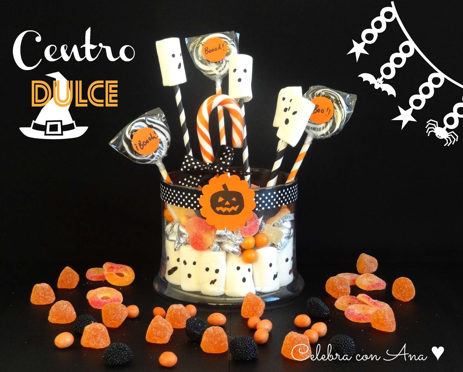 Celebra con ana compartiendo experiencias creativas for Centros de mesa para halloween