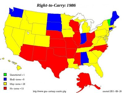 The right to carry in 1986.