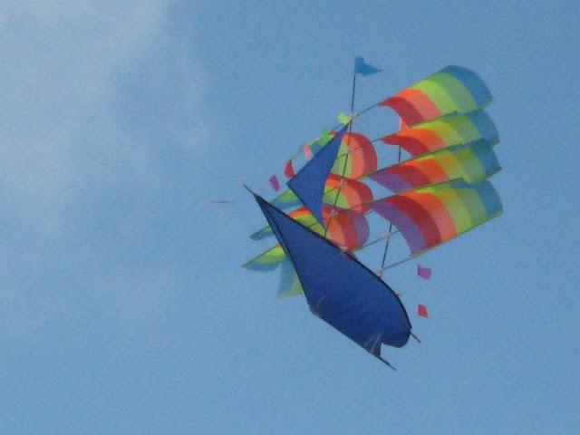 Vibrant Kite in Sky