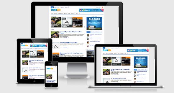Chia sẻ FreshLife Responsive Blogger Template cho trang tin tức, công nghệ