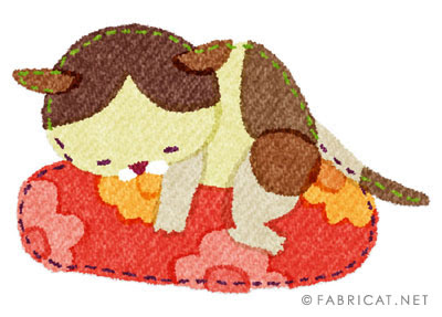 可愛いあまえる茶ぶち 猫のイラスト