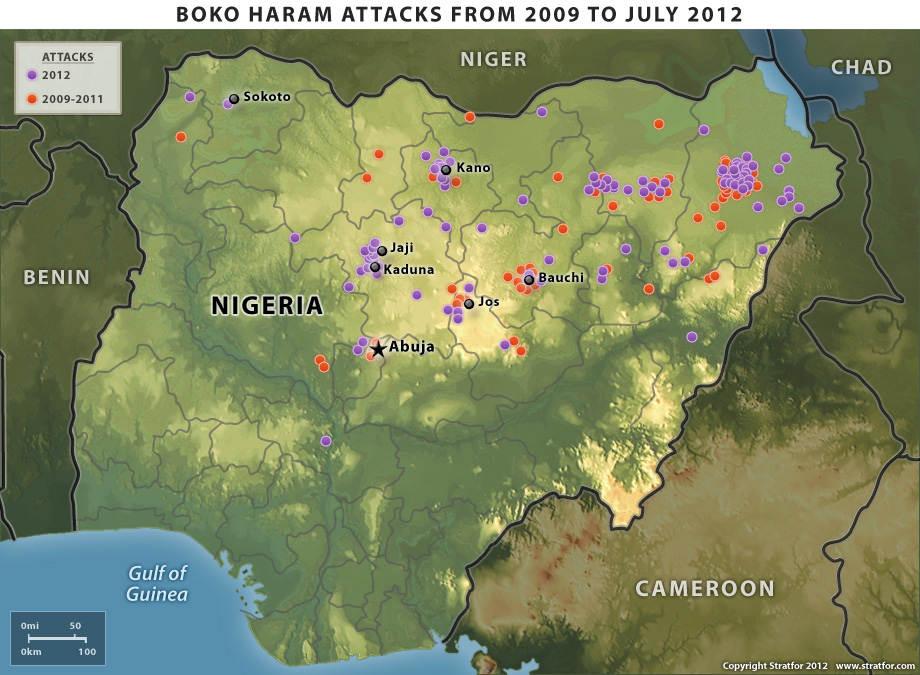 2009-yil iyuldan 2012-yilgacha bo`lgan Boko Haram xujumlari