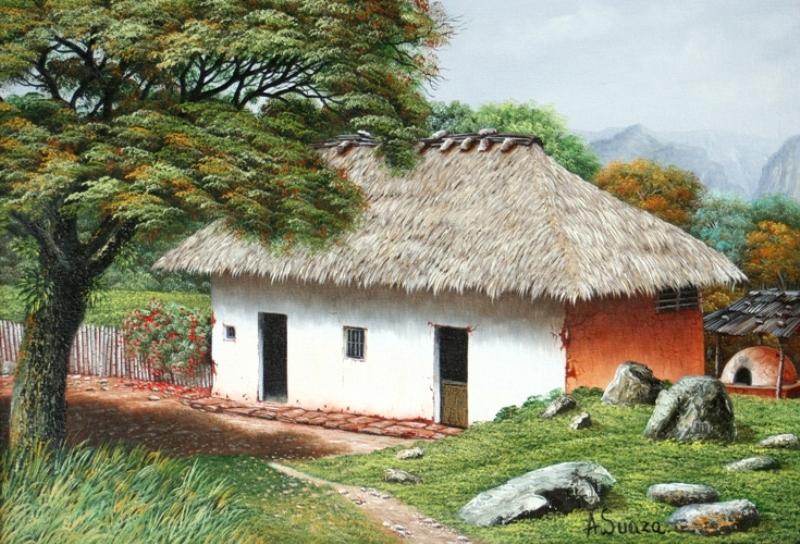 Im genes arte pinturas paisajes al leo de casas - Casas viejas al oleo ...