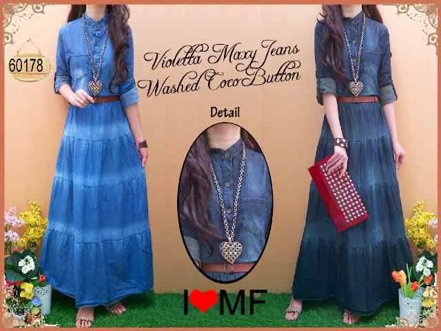 bahan jeans washed fit to L besar