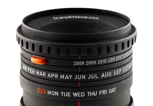 10 maneiras de reciclar lentes fotográficas calendario
