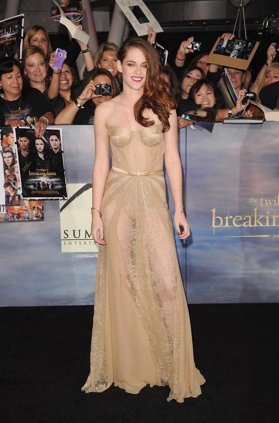 Gaun Transparan Kristen Stewart