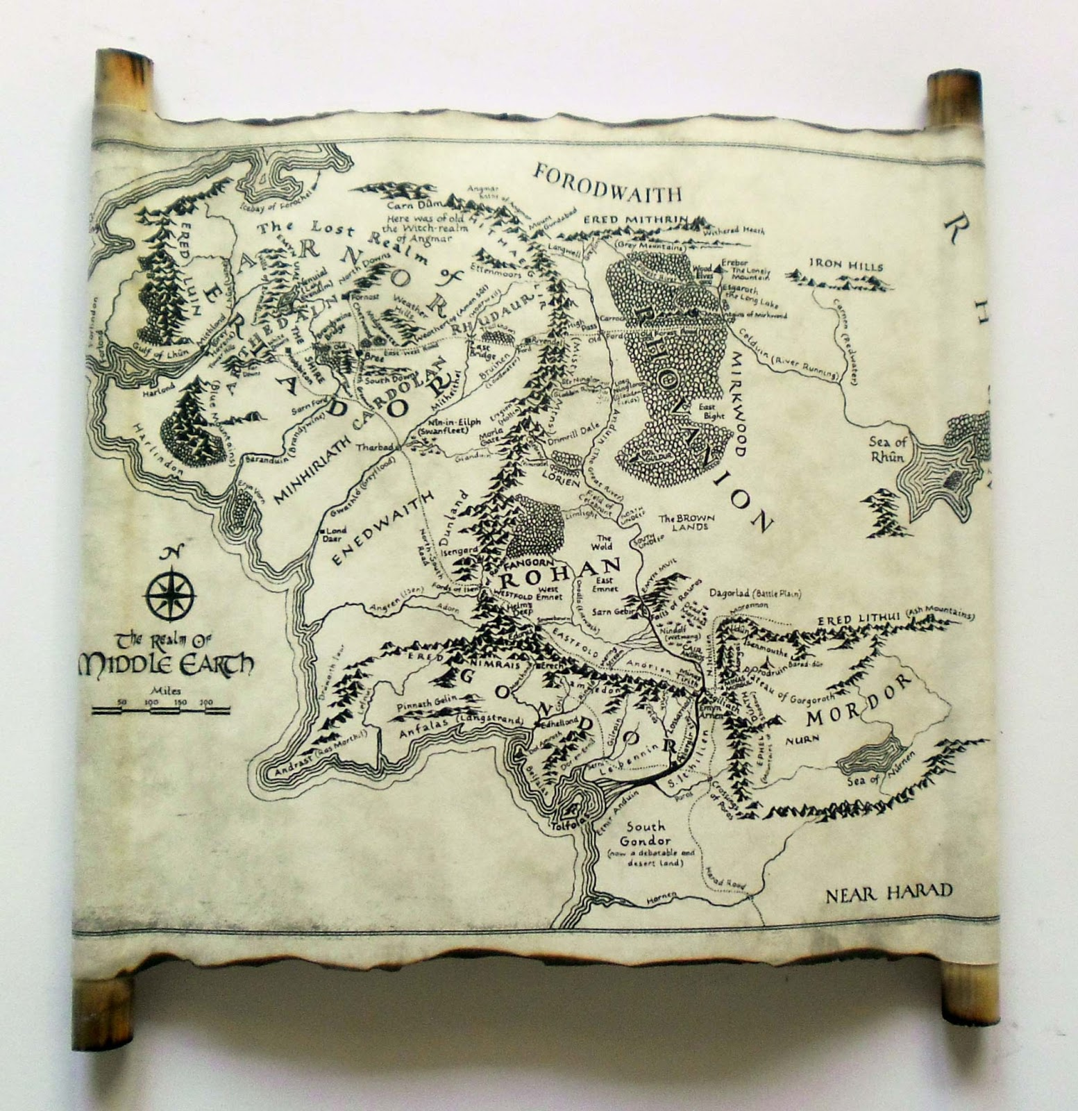 map of middle earth scroll lord of the rings the hobbit an unexpected journey