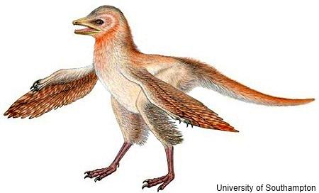 dinosaurio con plumas