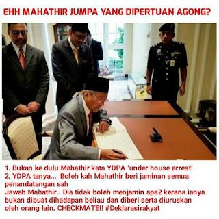 Mahathir hanya serah 45 tandatangan kepada Agong, kata Raja Petra