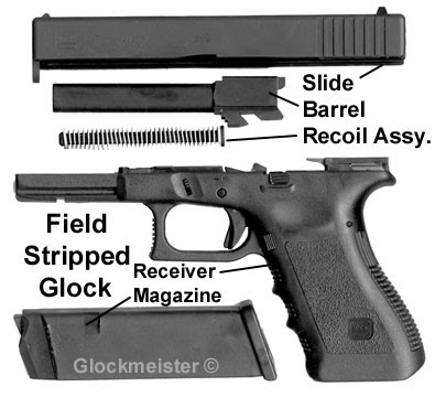 huey s gunsight 1911 vs glock disassembly not as bad as it sounds rh hueysgunsight blogspot com glock 22 gen 3 diagram glock 22 gen 3 diagram