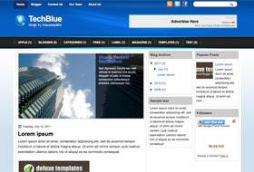 TechBlue Blogger Template