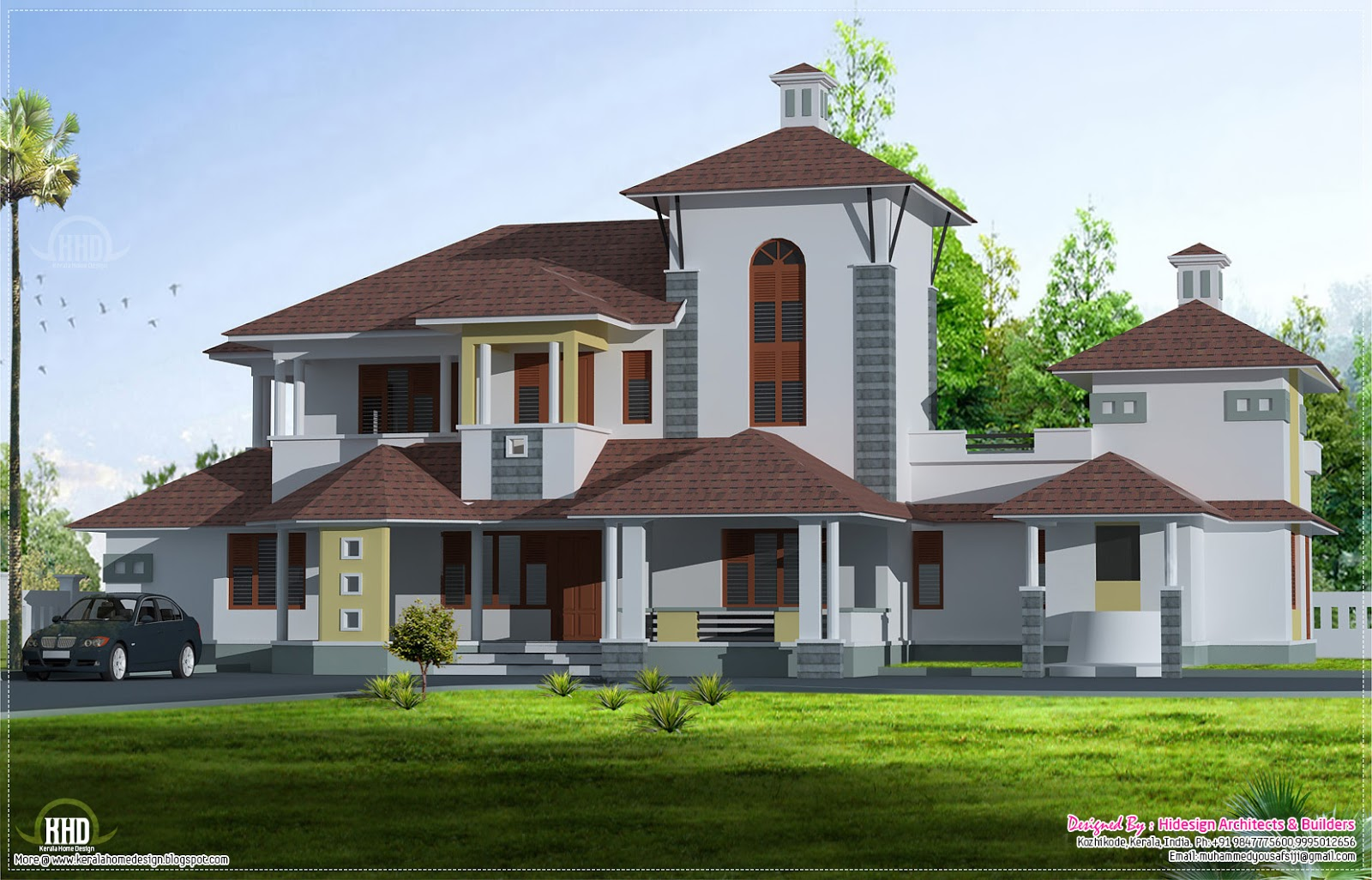 Unique Luxury Villa In 2800 Home Kerala Plans