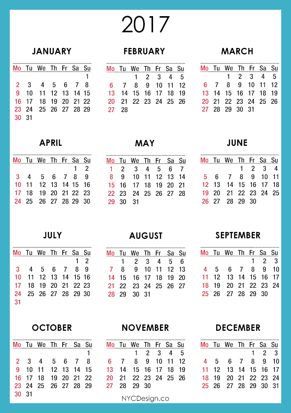... Calendar Printable - A4 Paper Size - Free - Blue, Navy Blue, White