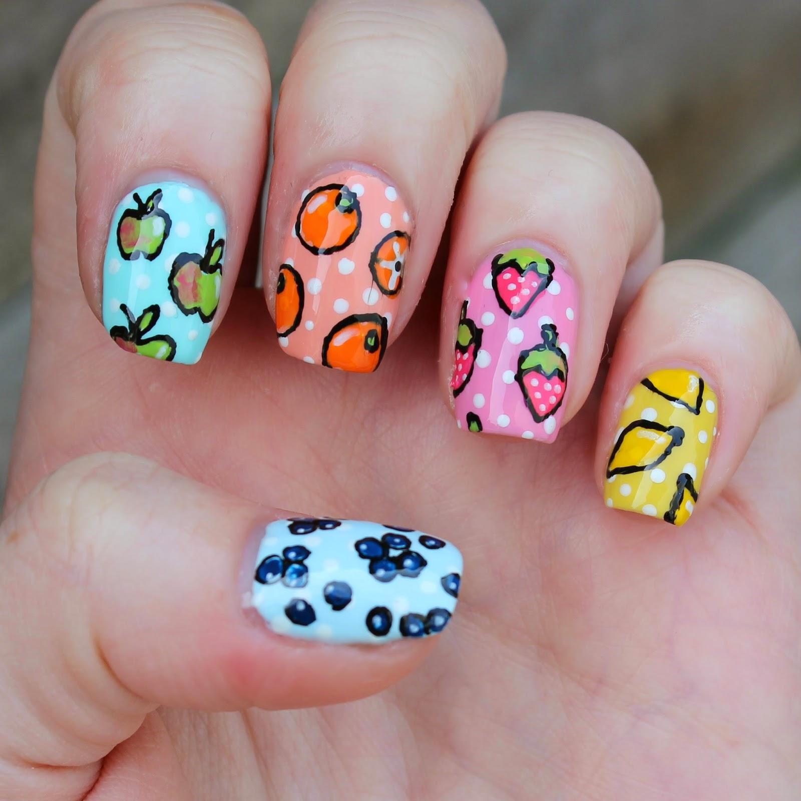 Dahlia Nails: Fruit Pastels