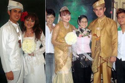 Irma hasmie dan suami di white dress