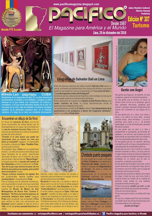 Revista Pacífico Nº 307 Turismo