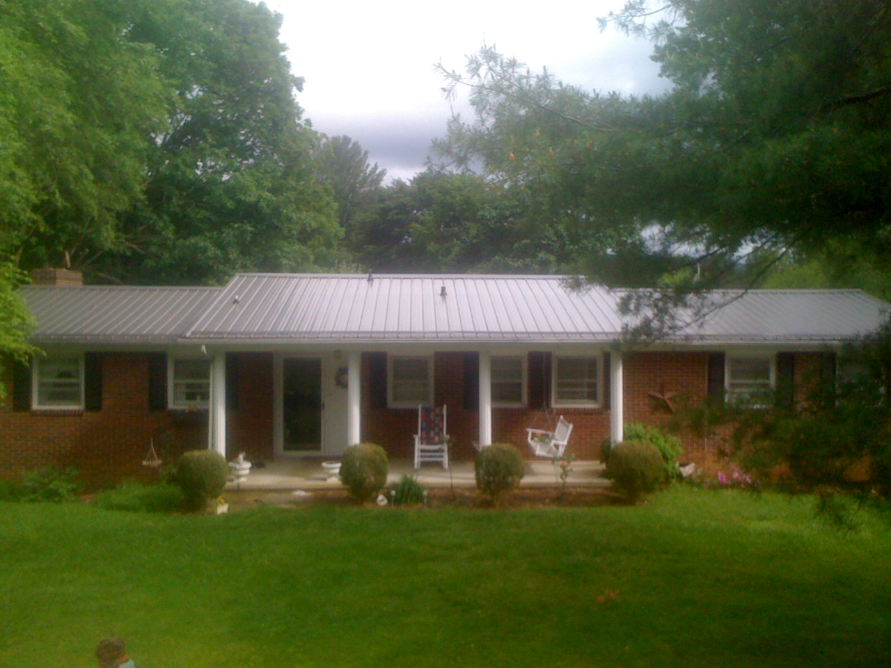 Clara 39 S Corner My House Before And After New Metal Roof