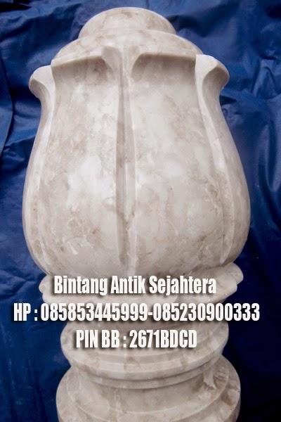 Batu Nisan Marmer granit Mahkota Ukir (Untuk Wanita)