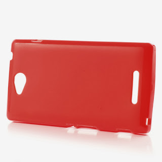 TPU Jelly Case Sony Xperia C C2305 S39h - Red