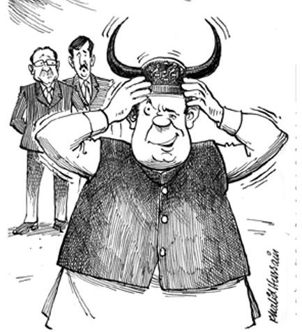 Cartoon on Nawaz Shareef
