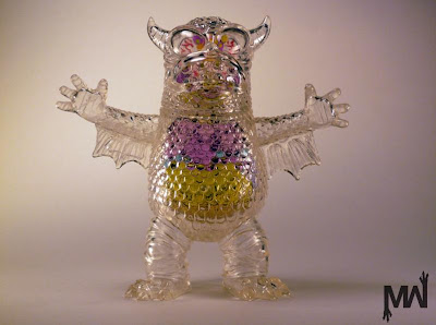 San Diego Comic-Con 2011 Exclusive Unpainted Clear Greasebat with Guts by Jeff Lamm