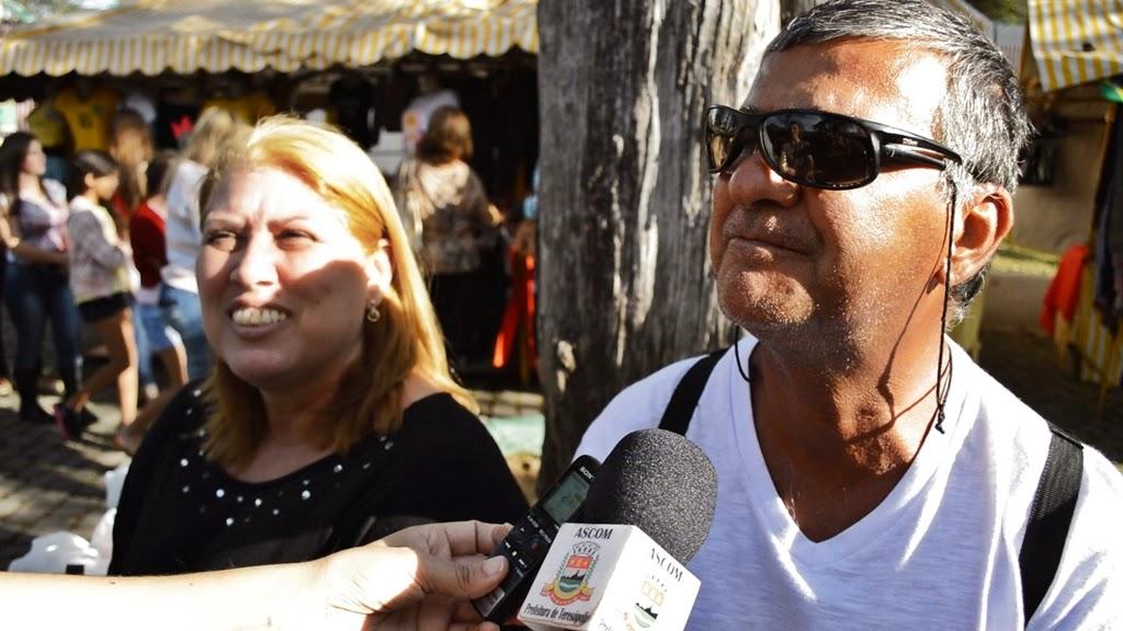 Célia Humberto e o marido Luiz Renato Humberto: do Rio de Janeiro marcando presença na Feirinha