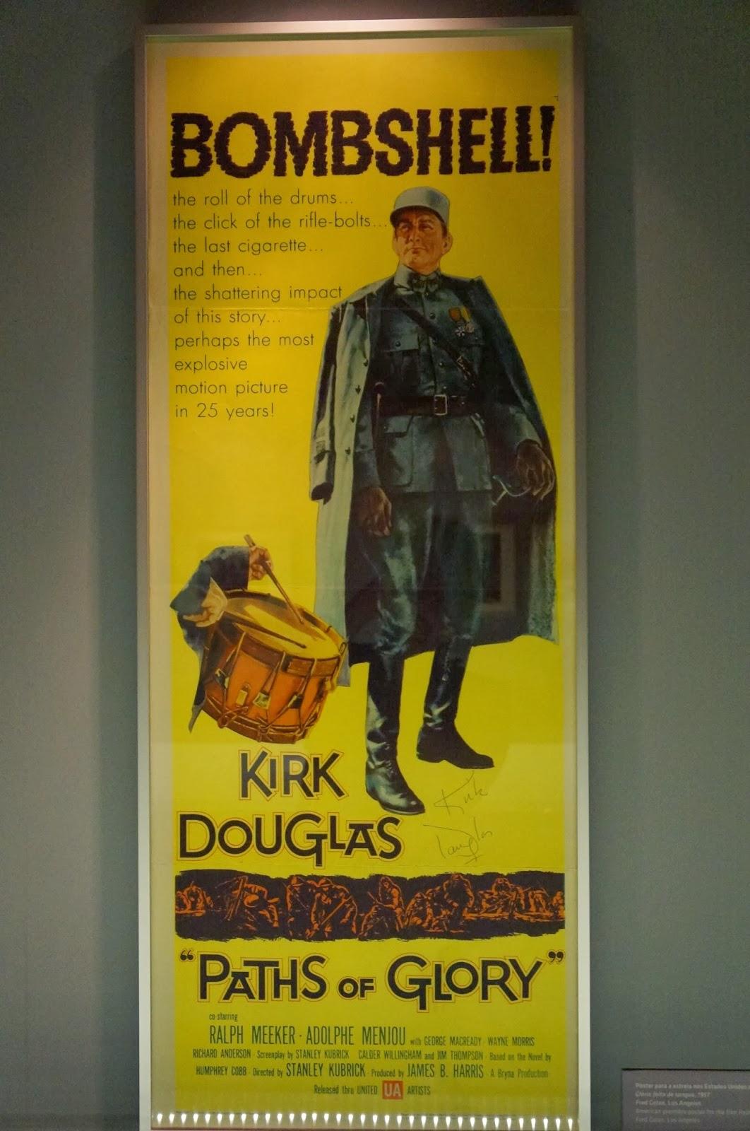 "poster filme ""Glória feita de Sangue"" - Stanley Kubrick - MIS - SP"