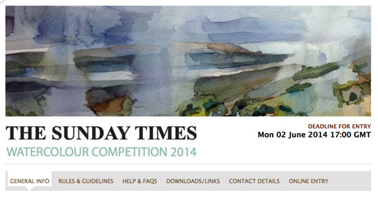 Sunday Times Watercolour Competition 2014