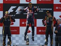 FÓRMULA 1-Vettel gana en casa bajo polémicas