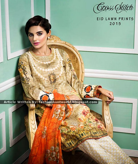 Cross Stitch Eid Lawn Prints 2015