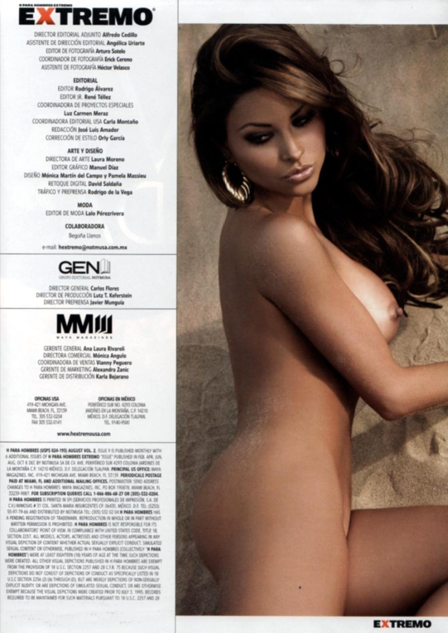 Gaby Ram Rez Pletamente Desnuda Revista Etremo