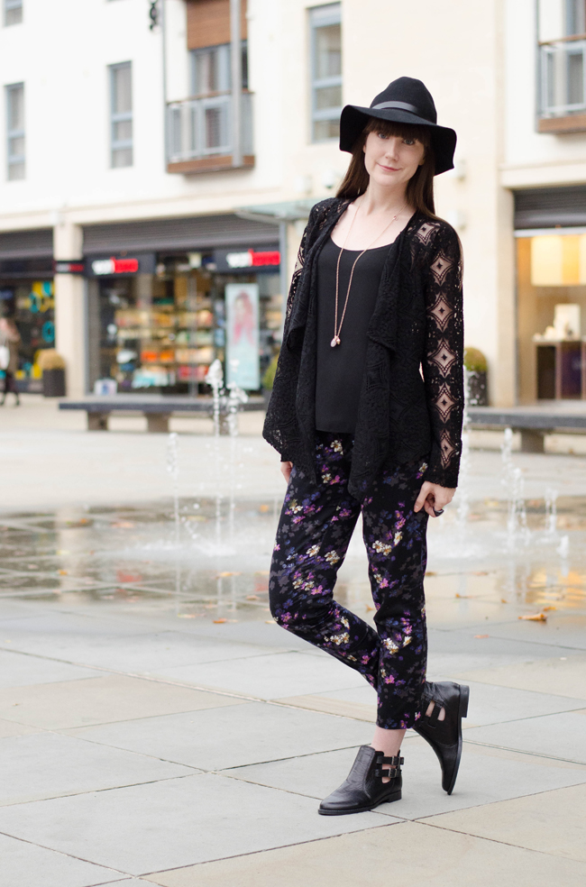 Oasis Shadow Shoots Print Trouser