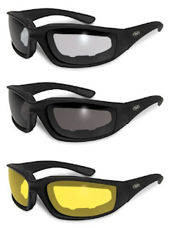 Sunglasses Motorcycle Kickback Foam Padded