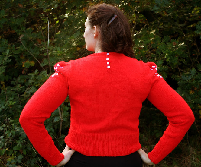 The Perfect Christmas Jumper Knitting Pattern Susan Crawford - Back View
