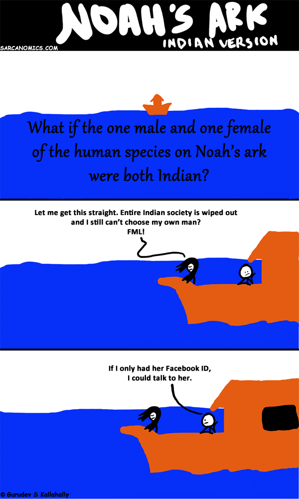 If the only male and female of the human species on Noah's ark were Indians